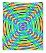 Abstract 709 Fleece Blanket
