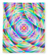 Abstract 722 Fleece Blanket
