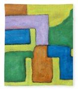 Abstract 809 Fleece Blanket