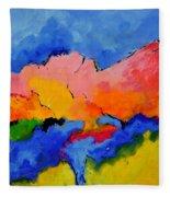 Abstract 88112060 Fleece Blanket
