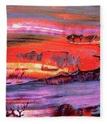 Abstract 9032 Fleece Blanket