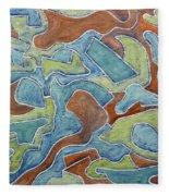 Abstract 972 Fleece Blanket