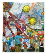 Abstract Amusement Park Fleece Blanket