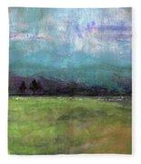 Abstract Aqua Sky Landscape Fleece Blanket