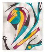 Abstract Art 105 Fleece Blanket