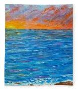 Abstract Art- Flaming Ocean Fleece Blanket