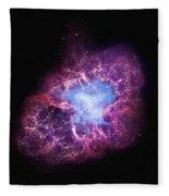Abstract Heavenly Art - The Crab Nebula Fleece Blanket