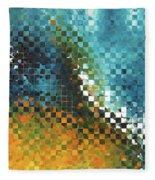 Abstract Art - Pieces 9 - Sharon Cummings Fleece Blanket