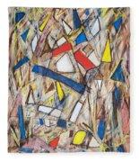 Abstract Art Seven Fleece Blanket