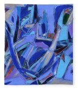 Abstract Art Twenty-four Fleece Blanket