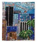 Los Angeles. Rhinestone Mosaic With Beadwork Fleece Blanket