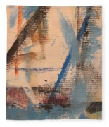 Abstract At Sea 3 Fleece Blanket