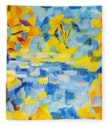 Abstract Autumn Landscape Fleece Blanket