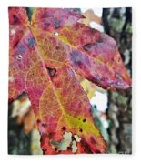 Abstract Autumn Leaf 2 Fleece Blanket