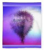 Abstract Balloon In Sky Fleece Blanket