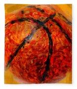 Abstract Basketball Fleece Blanket