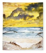 Abstract Beach Sand Dunes Fleece Blanket