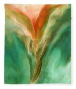Abstract Bird Fleece Blanket