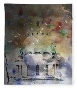 Abstract Birds In A Swirl Of Sky Colors Fleece Blanket