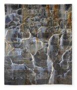 Abstract Bleeding Concrete Fleece Blanket