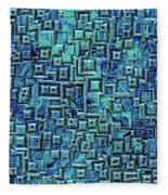 Abstract Blue And Green Pattern Fleece Blanket