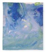 Abstract Blue Reflection Fleece Blanket