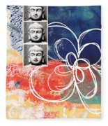 Abstract Buddha Fleece Blanket