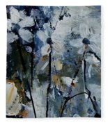Abstract Bunch Of Flowers  Fleece Blanket