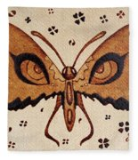 Abstract Butterfly Coffee Painting Fleece Blanket