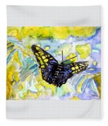 Abstract Butterfly Fleece Blanket