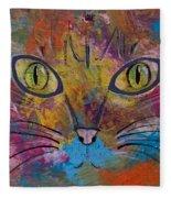 Abstract Cat Meow Fleece Blanket
