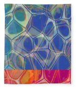 Cells 7 - Abstract Painting Fleece Blanket