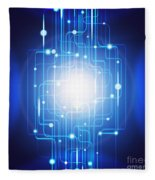 Abstract Circuit Board Lighting Effect  Fleece Blanket