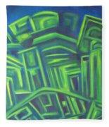 Abstract Cityscape Series IIi Fleece Blanket