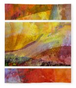 Abstract Collage No. 4 Fleece Blanket