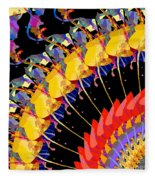 Abstract Collage Of Colors Fleece Blanket