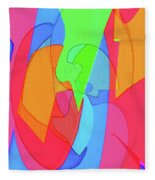 Abstract Color Block  Fleece Blanket
