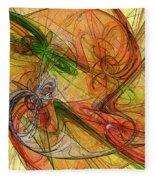 Abstract Color Swirls Fleece Blanket