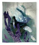 Abstract Construction Fleece Blanket