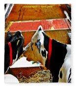 Abstract Cows Fleece Blanket