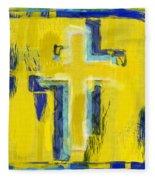 Abstract Crosses Fleece Blanket
