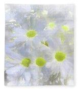 Abstract Daisy Boquet Fleece Blanket