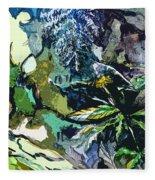 Abstract Dandelion Fleece Blanket