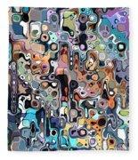 Abstract Digital Doodle 2 Fleece Blanket