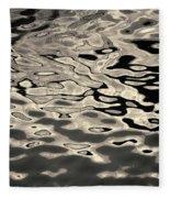 Abstract Dock Reflections I Toned Fleece Blanket
