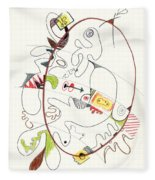 Abstract Drawing Fifty-four Fleece Blanket