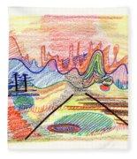 Abstract Drawing Five Fleece Blanket