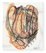 Abstract Drawing Forty-five Fleece Blanket