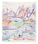 Abstract Drawing Nineteen Fleece Blanket