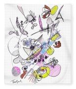 Abstract Drawing Seventy-two Fleece Blanket